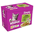 Whiskas Pouch Simply Kitten Grilled Selection Jelly 12 x 85 g (Pack of 4, Total 48 Pouches)