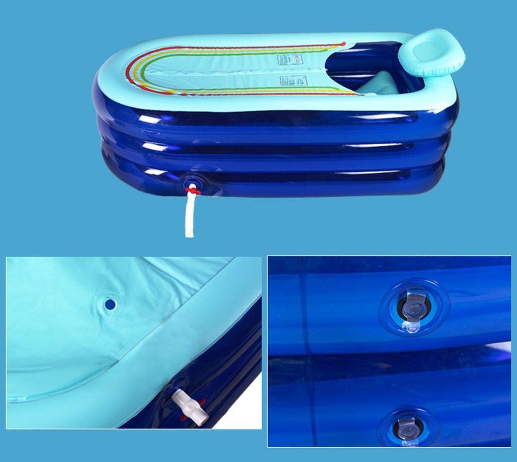 Sunhai& Tubble Inflatable Bathtub Adult Size Portable Home Spa, Baby Early Education Swimming Pool ,Comfortable Bath, Quality Tub ( Color : Blue ) by Sunhai& (Image #7)