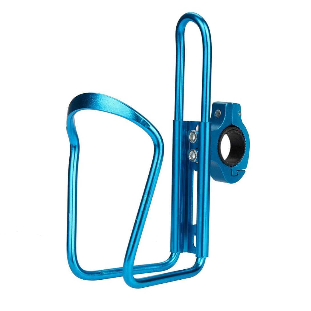 Witspace Bike Cycling Aluminum Alloy Handlebar Bicycle Water Bottle Holder Cages (Blue)