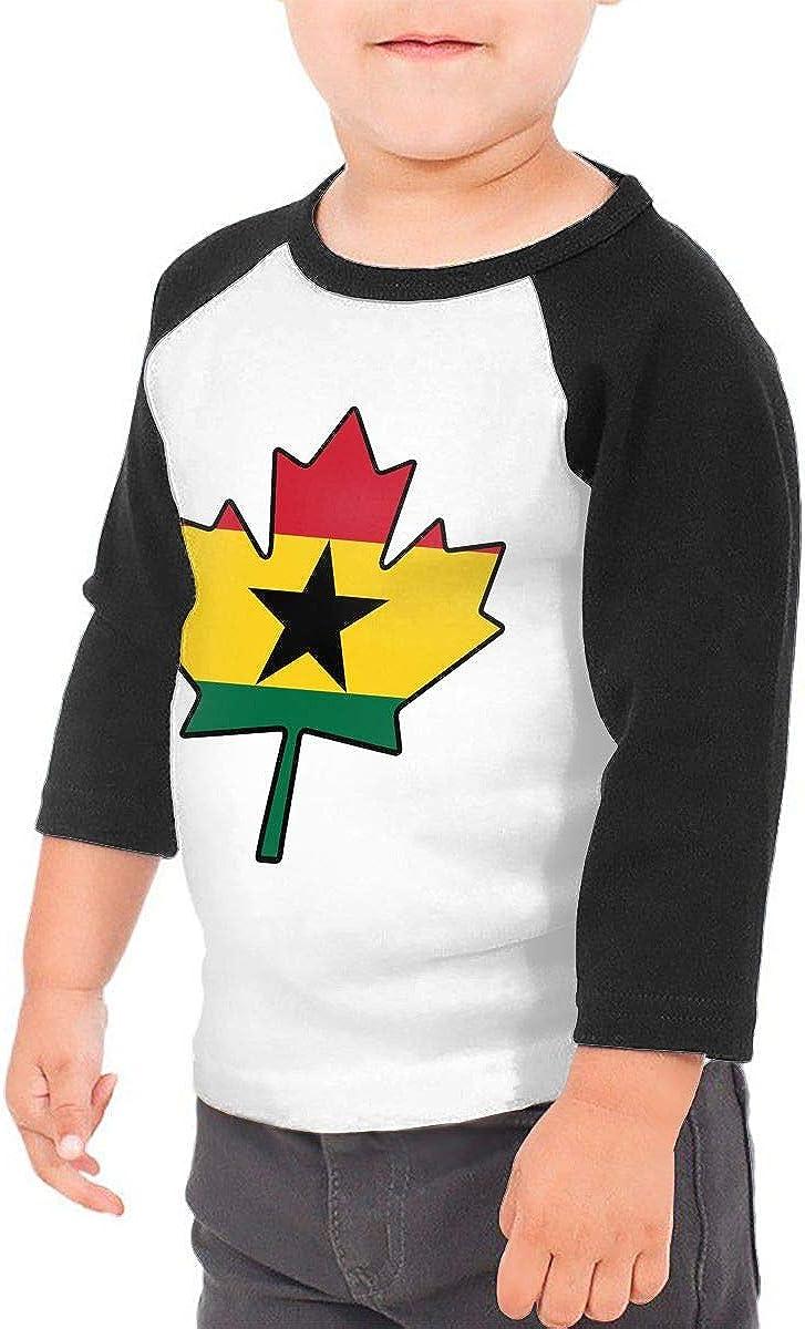 QPKMRTZTX0 Boys Girls Kids /& Toddler Ghana Flag 1 Long Sleeve Tees 100/% Cotton