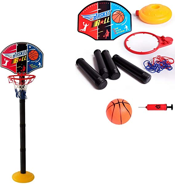 Metal Dragon 77th Portable Basketball Hoop Stand Indoor Outdoor Adjustable Height 52-115cm for Kids