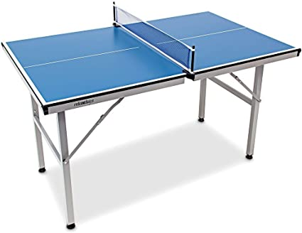 Relaxdays Mesa Ping Pong Exterior Plegable con Red, Madera-Metal, Azul, 75 x 75 x 125 cm: Amazon.es: Deportes y aire libre