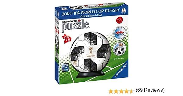 Ravensburger – Puzzle 3D Adidas Copa Mundial de Fútbol de 2018 72 ...