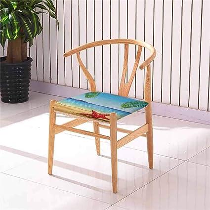 Cojín cuadrado para silla de comedor de playa con diseño de ...