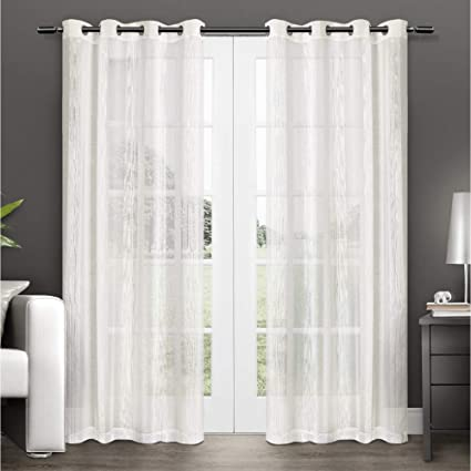 Amazoncom Exclusive Home Penny Sheer Grommet Top Curtain Panel