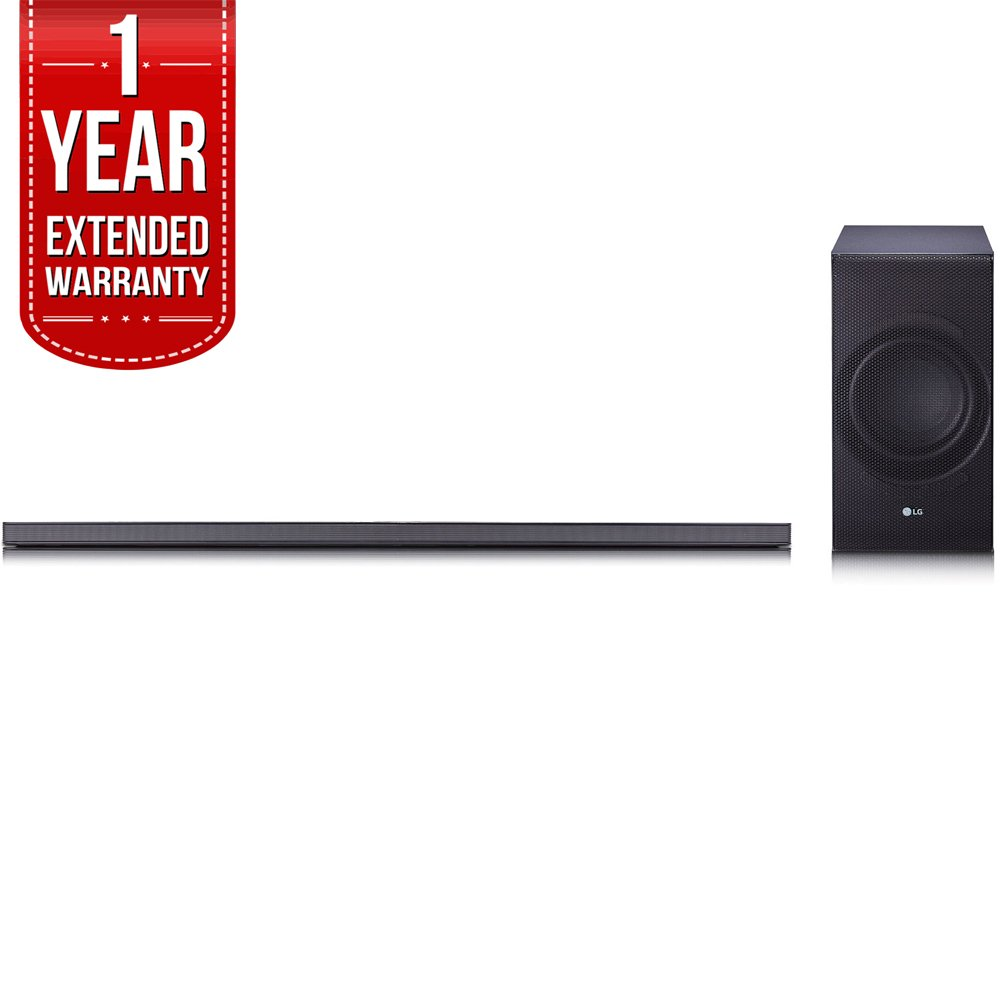 LG SJ8 Sound Bar w/ 4.1ch High Resolution Audio, WiFi & Bluetooth with 1 Year Extended Warranty by LG