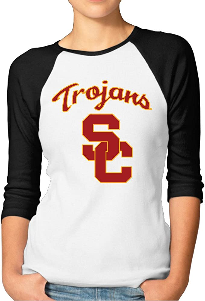 YFF Women's USC Trojans Best 3/4 Sleeve Raglan Tshirts
