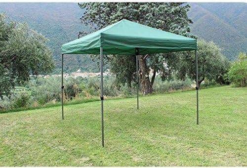 Cenador 3 x 3 de metal toalla verde para exterior jardín ...