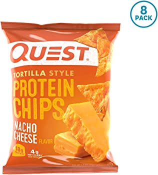 8-Pack Quest Nutrition Tortilla Style Baked Protein Chips (3 Flavors)