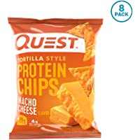 Quest Nutrition Tortilla Style Protein Chips, Nacho,  Low Carb, Gluten Free, Soy Free, Corn Free, Baked, 8 Count
