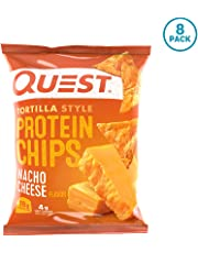 Quest Nutrition Tortilla Style Protein Chips, Nacho, Low Carb, Gluten Free, Soy Free, Baked, 8 Count