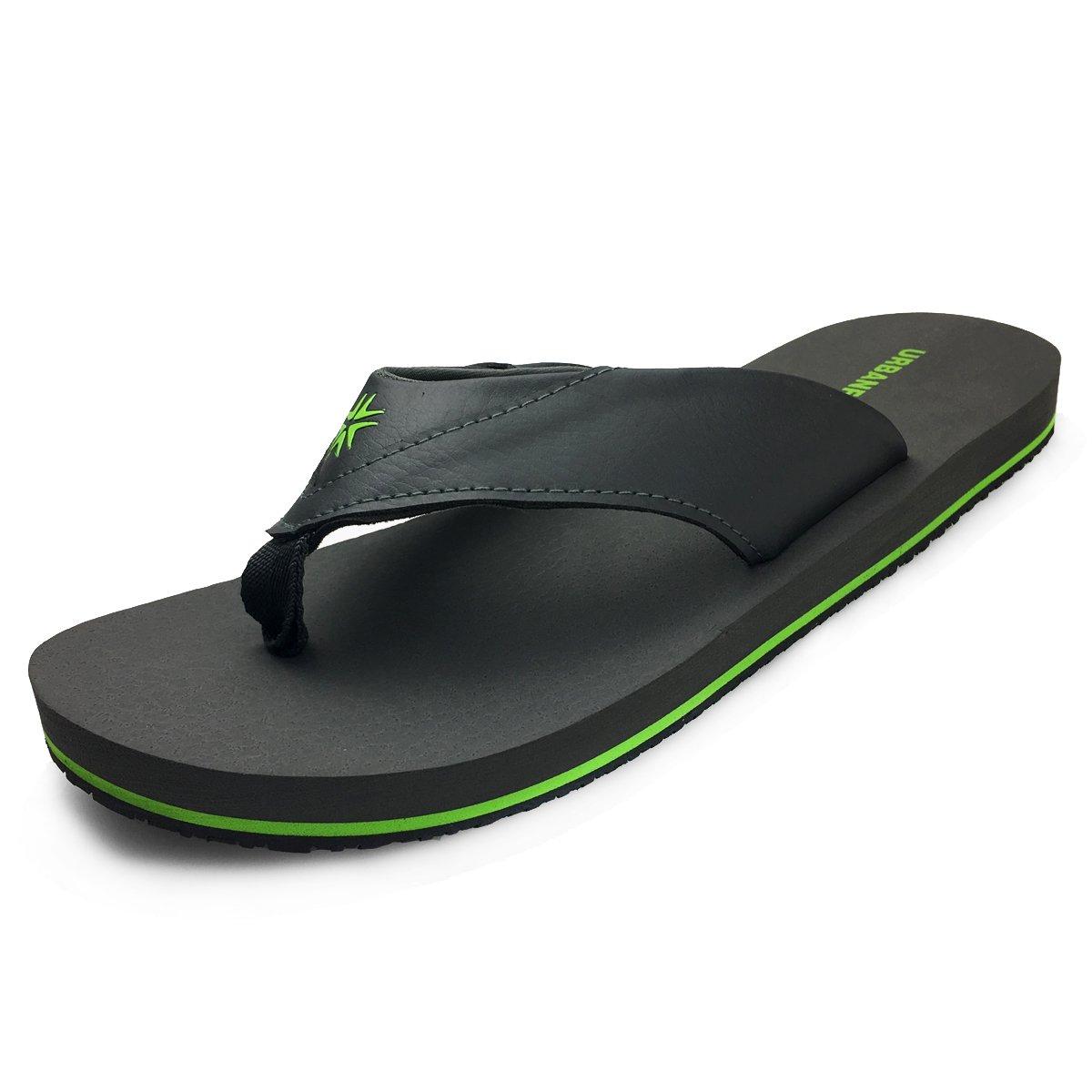 URBANFIND Men's Summer Sandals Outdoor & Indoor Flip-Flops Beach Shower Slippers Style 2 Gray, 11 D(M) US