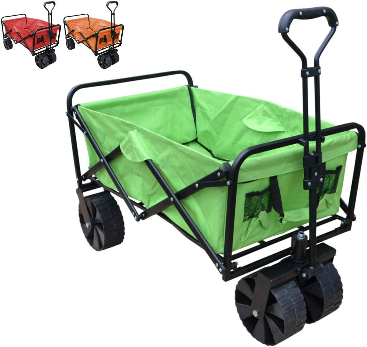 Papilioshop Sandy Chariot pliable avec roues de plage pour le transport de mat/ériaux max 80 kg