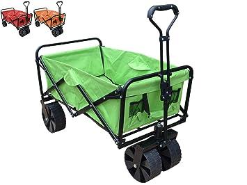 Papilioshop Sandy Carro Plegable con Ruedas de Playa Transporte MAX 80 kg, Verde: Amazon.es: Deportes y aire libre
