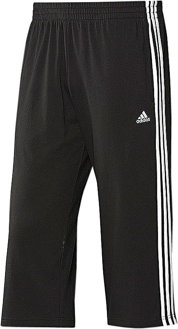 adidas Herren 3/4 Hose Climalite Cotton (S, schwarz-weiß ...