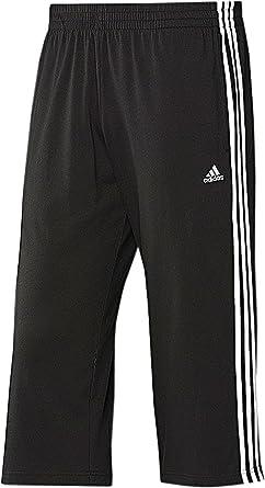 adidas Herren 34 Hose Climalite Cotton (XS, schwarz weiß