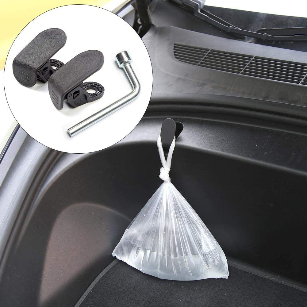 IMCROWN 2PCS//Set Car Front Trunk Bag Cargo Hook,Safe and Coovenient Purse Hook Clip Bolt Covers Prevent Items from Swinging Back and Forth for Tesla Model 3