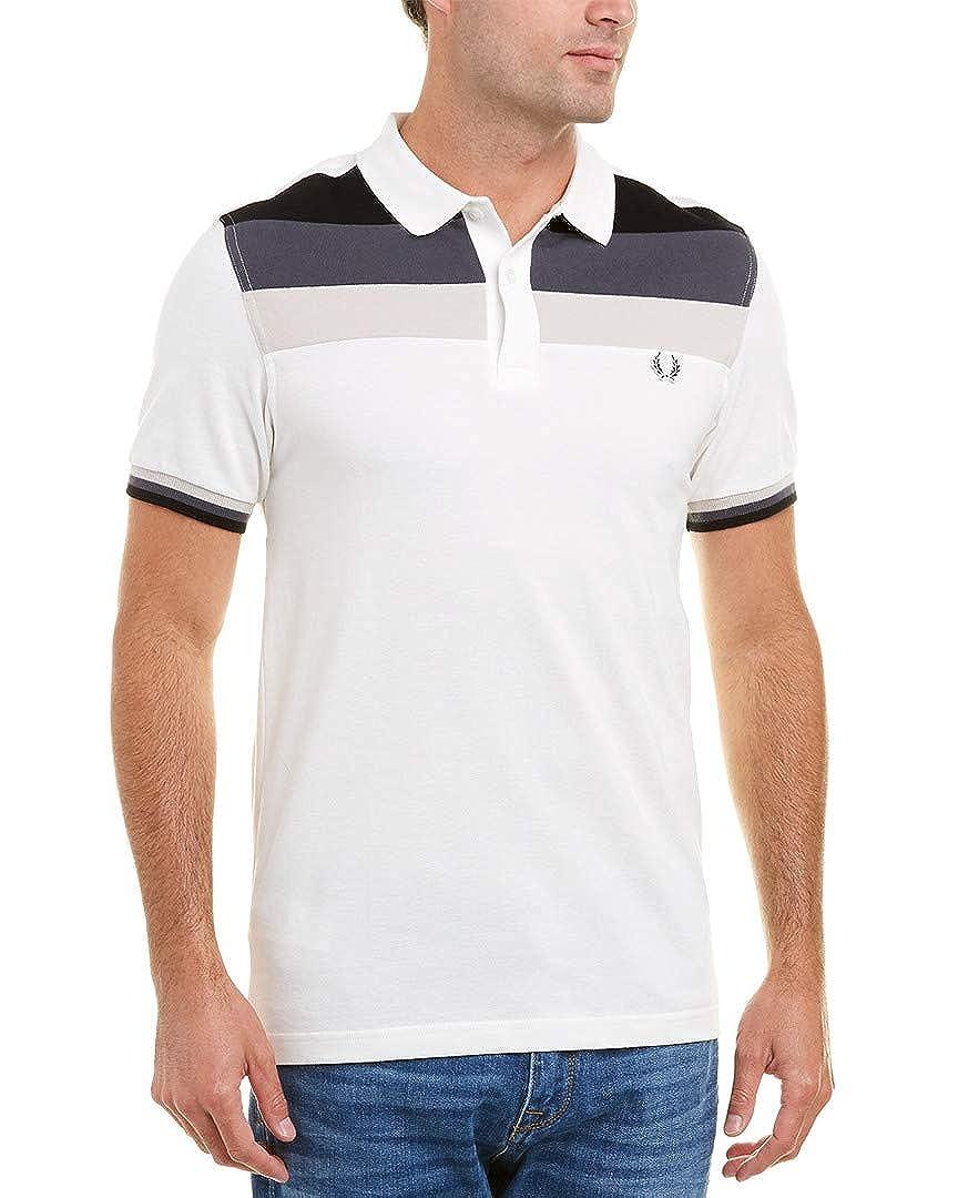 Fred Perry Hombres Camisa de Polo de Bloque de Color Blanco como ...