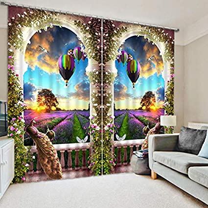 Amazon Com Wapel Peacock 3d Printing Blackout Curtains Bedding Room
