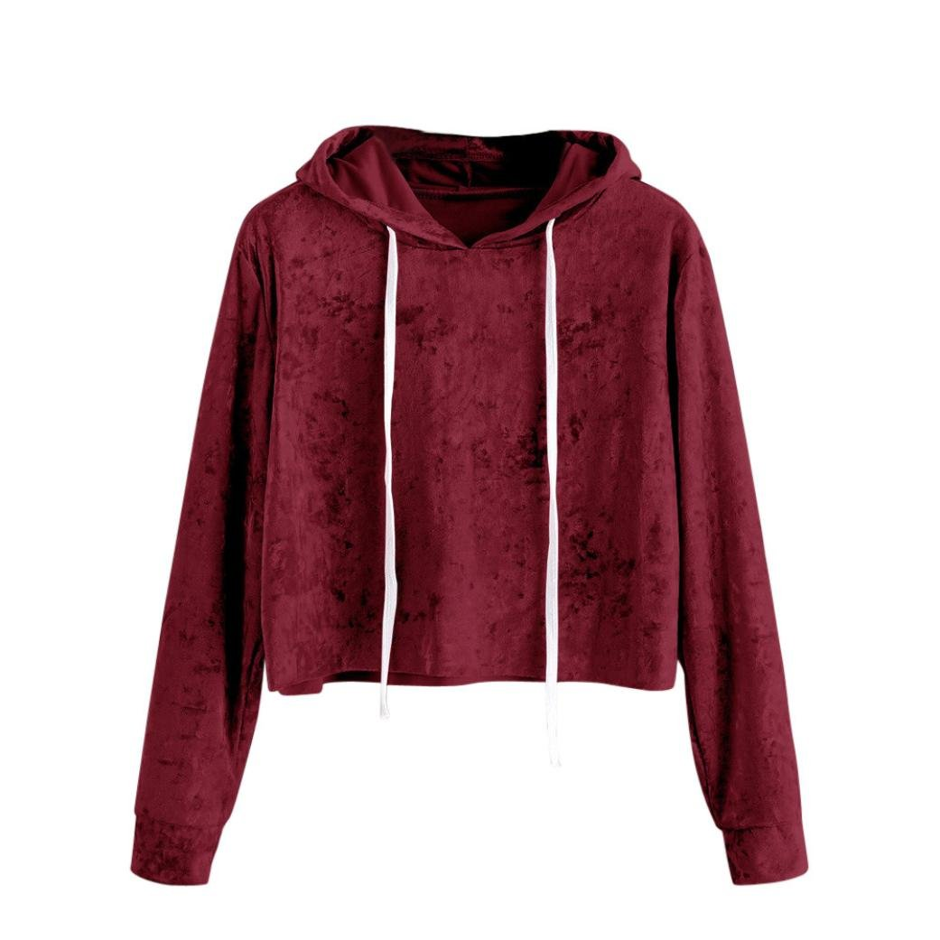 Clearance Women Sweatshirt, Zulmaliu Womens Warm Long Sleeve Hoodie Sweatshirt Jumper Hooded Pullover Tops Velvet Blouse