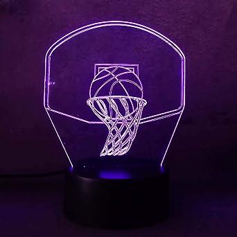 Ilusión óptica mágica Lámpara 3D Lámpara de noche USB Led 7 ...