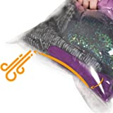 The Chestnut 8 Travel Space Saver Bags - No Vacuum or Pump Needed - Storage Bags for Clothes - Reusable Packing Sacks - Travel Accessories Luggage Compression Bags