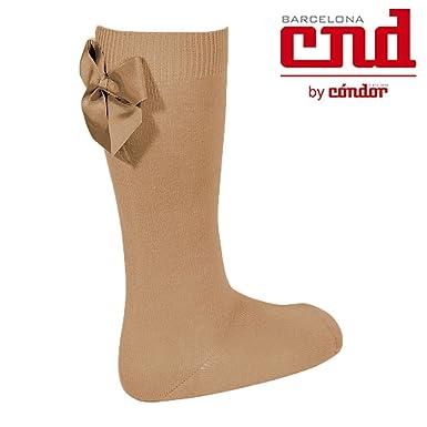e4d582a8857 Condor Socks Knee High Socks With Back Grosgrain Bow  Amazon.co.uk  Clothing