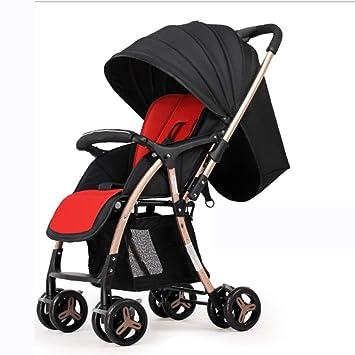 SHOWGG Cochecito de bebé, Carrito de Compra de Dos vías de aleación de Aluminio Ligero