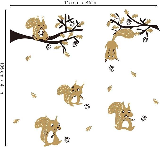 ufengke Stickers Muraux Koala Arbre Autocollants Mural Animaux DIY pour Chambre Enfants B/éb/é P/épini/ère Salon D/écoration Murale