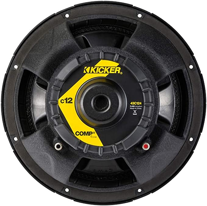 "KICKER C124 150Watt RMS 12/"" Comp Series Single 4 ohm Car Subwoofer Car Audio Sub"