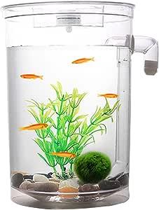 Legendog Small Fish Aquarium Kit Automatic Water Changing Plastic Fish Tank Aquarium Tank with LED Light
