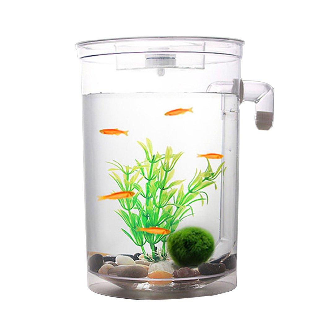 Legendog Fish Tank Aquarium Kit Automatic Water Changing Plastic Fish Tank Aquarium Tank with LED Light