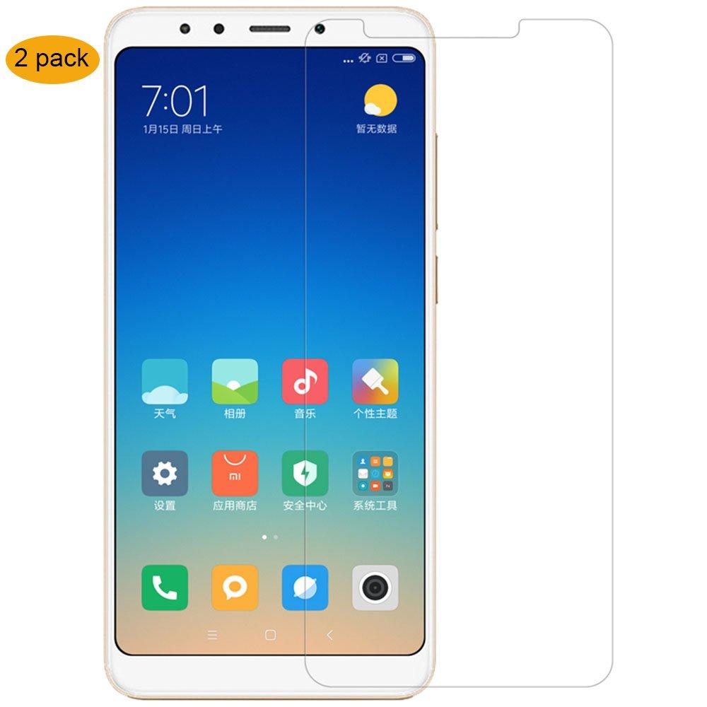 [2Pezzi] خفف من الزجاج XIAOMI Redmi 5 Plus ، زجاج مقسى THILIVE زجاجي لـ Xiaomi Redmi 5 Plus HD 9H صلابة الحواف بتقريب 2.5D ، سهل التركيب - شفاف