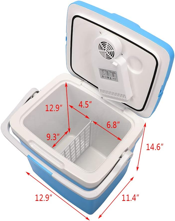 ZOKOP Electric Portable Fridge Cooler /& Warmer AC//DC Portable Thermoelectric System 26 Liter // 0.92Cuft