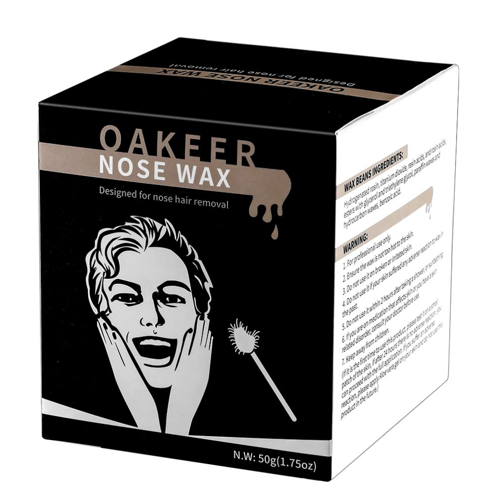 Nose Wax Hair Remover Oakeer Nose Wax Kit for Men and Women at Home Nose Hair Removal