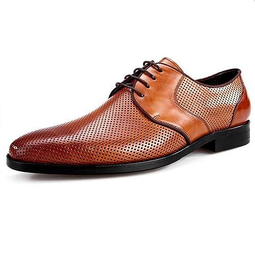 Zapatos Confortables de Verano Zapatos de Cuero Huecos ...