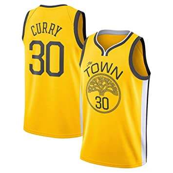 DEBND Hombre Ropa de Baloncesto NBA Warriors 30# Curry Jersey ...