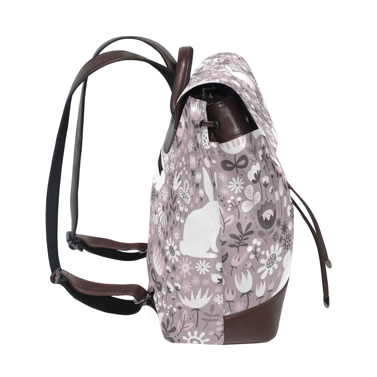 Wolf Backpack PU Leather School Shoulder Bag Rucksack for Women Girls Ladies Backpack Travel Bag
