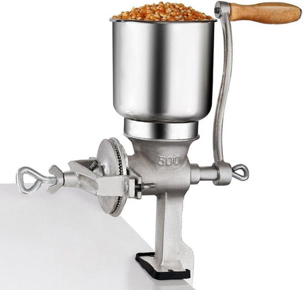 Baugger Broyeur de malt-Broyeur manuel de grande capacit/é pour broyeur en acier inoxydable Processeur culinaire Broyeur /à grains de ma/ïsmalt 3 rouleaux