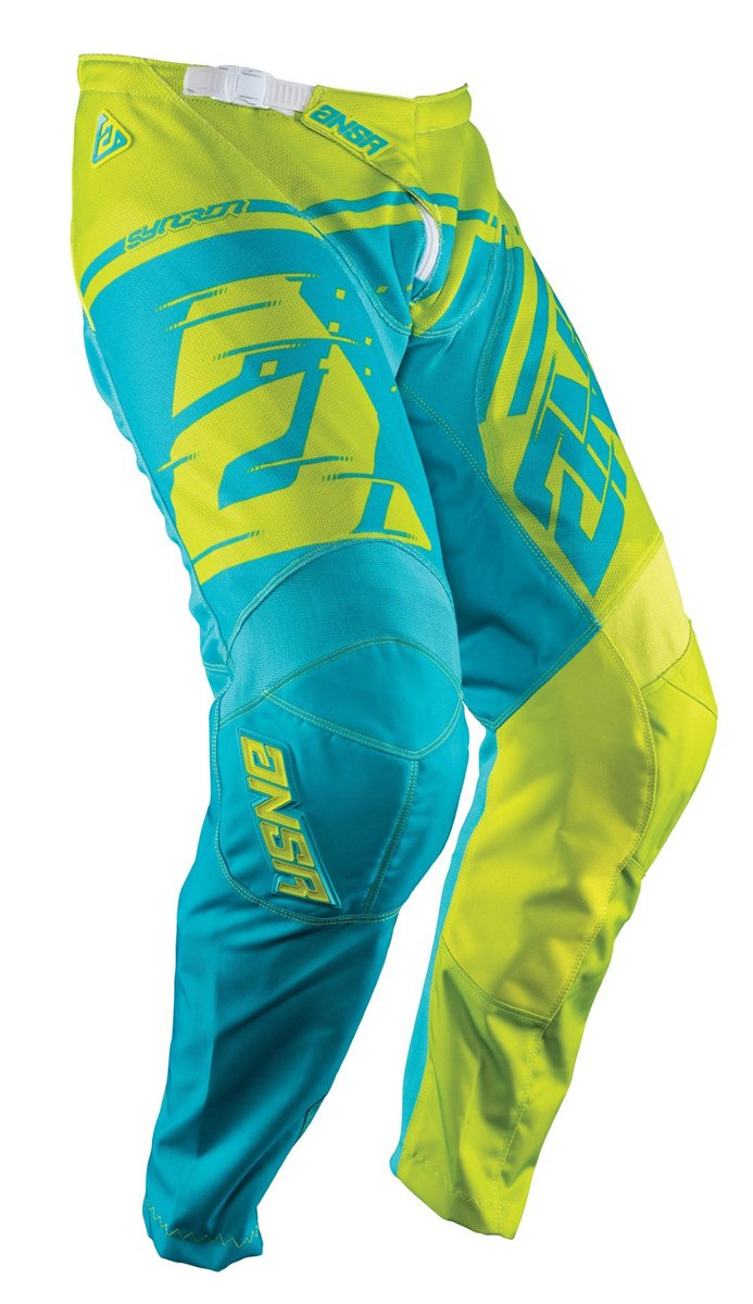 Answer Racing A18 Syncron Air Youth Boys Off-Road Motorcycle Pants - Acid/Cyan / Size 26