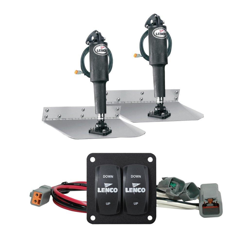 Lenco 12'' X 12'' Standard Mount Trim Tab Kit with Double Rocker Switch 15103-104