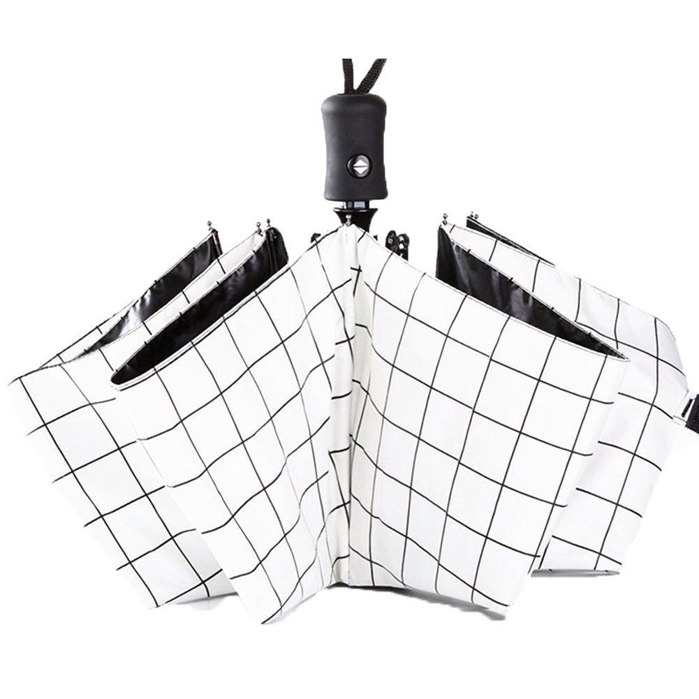 YIJODM Compact Folding Travel Umbrella UV Block Protection Folding Umbrella Parasol Lightweight, Black Feather YYEUJJYSYMH