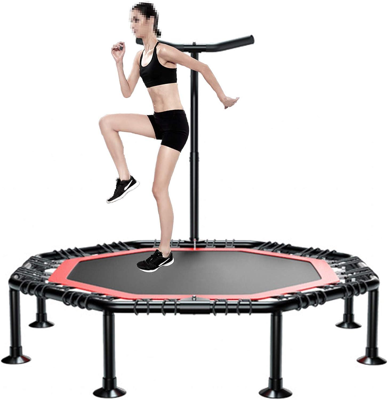 Profesional Fitness Trampolín Cama Elástica con Cuerdas De Goma Ultra silencioso de 45 Pulgadas, trampolin Cama Elastica Capacidad de Peso: 300 kg,50 Inches