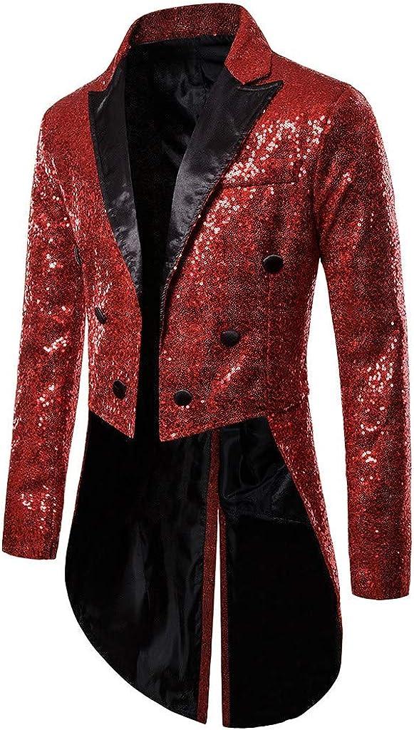 Veste de Smoking Blazer Homme /Gothique Steampunk R/étro /Uniforme Costume ajust/é /Praty /Manteau Outwear Manteau /êtements de Performance Veste Mariage Long Outwear Coat Bouton S-XXL