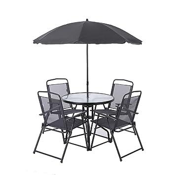 Amazon.de: ikayaa 6pcs Outdoor Möbel Esszimmer Möbel W ...