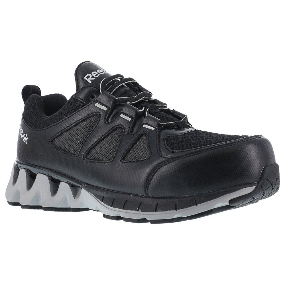 Reebok Work Women's Zigkick RB301 Work Shoe, Black/Grey, 8 W US