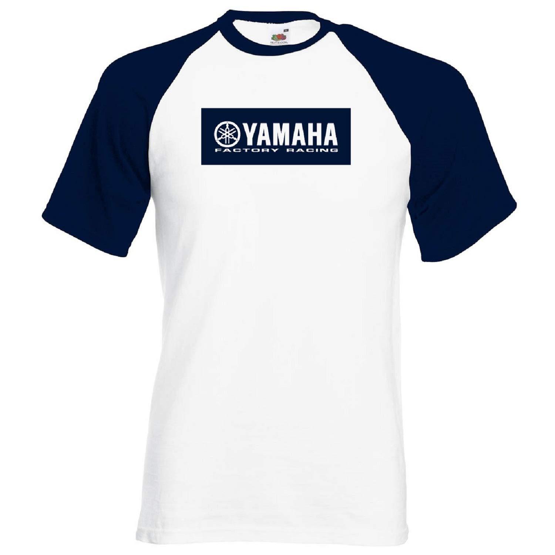 Hombre Camiseta Yamaha T-Shirt Rally Racing Coche Moto Auto Blanco Personalizada de Dos Colores BICYA01