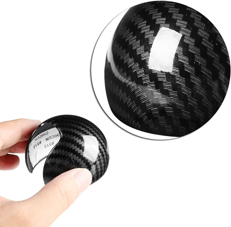 Duokon Shift Knob Head Cover Cap Carbon Fiber Style Car Gear Shift Knob Head Cover Cap Sticker Trim for Audi A3 8 V S3 14-18