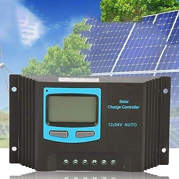 Lebeaut 20A de Carga Solar Controlador de 12V / 24V Panel de batería Solar Regulador de Carga con Pantalla LCD Fácil de Usar: Amazon.es: Hogar