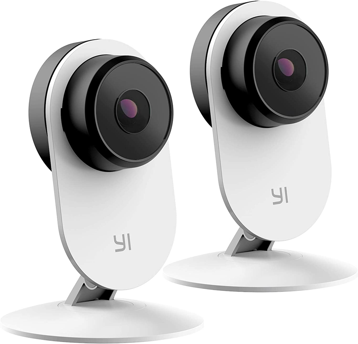 YI 2pc Smart Home Camera 3, AI-Powered 1080p Security Camera System IP Cam with 24/7 Emergency Response, Human Detection, Sound Analystics, Night Vision, 2.4G Wi-Fi, App for Nanny Monitor